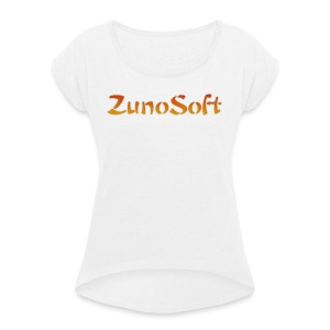 ZunoSoft Logo - Women's T-shirt with rolled up sleeves
