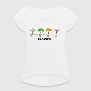 Four Seasons - Women's T-shirt with rolled up sleeves