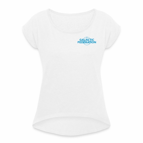 Galactic Federation - Women's T-shirt with rolled up sleeves