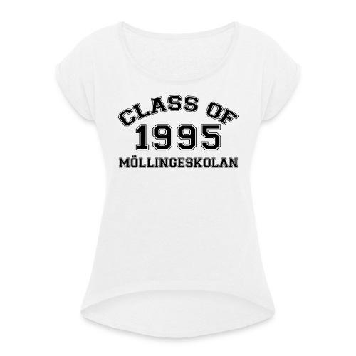 Möllingeskolan 1995 - T-shirt med upprullade ärmar dam