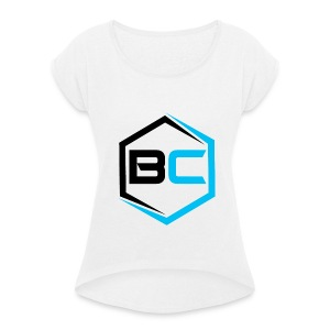 BradCubed 2018 Reboot Merch - Women's T-shirt with rolled up sleeves