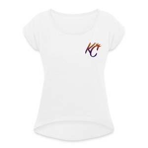 KC COLOURFUL - Women's T-shirt with rolled up sleeves