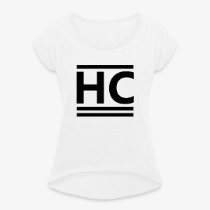 Black Official Horizon Clothing - Women's T-shirt with rolled up sleeves