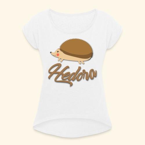 Logo Hedora - T-shirt à manches retroussées Femme