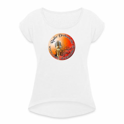 logo rds runt - Frauen T-Shirt mit gerollten Ärmeln