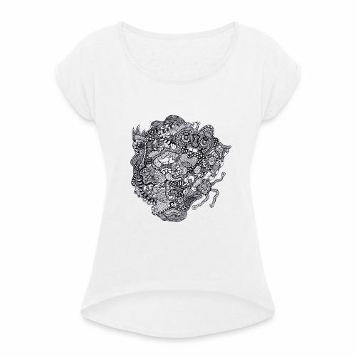 Crazy Duck - T-shirt à manches retroussées Femme