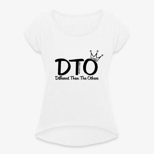 erolthaqi - Frauen T-Shirt mit gerollten Ärmeln