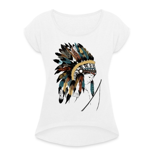 indian boy - T-shirt à manches retroussées Femme