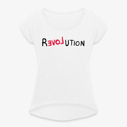 faee ny - Dame T-shirt med rulleærmer