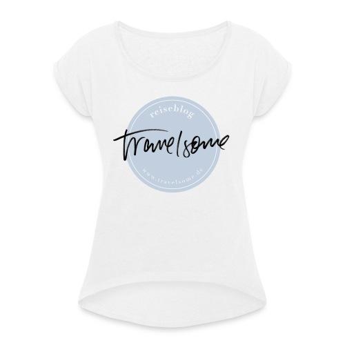 Monogram 1.0 - Frauen T-Shirt mit gerollten Ärmeln