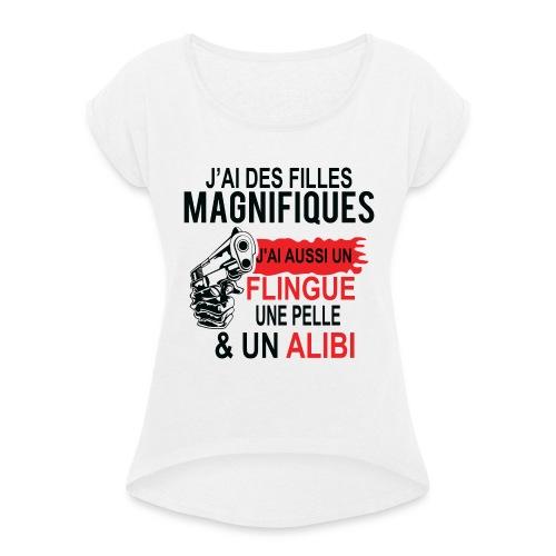 J'AI DEUX FILLES MAGNIFIQUES Best t-shirts 25% - T-shirt à manches retroussées Femme