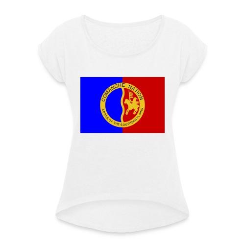 1200px Flag of the Comanche Nation svg - T-shirt à manches retroussées Femme