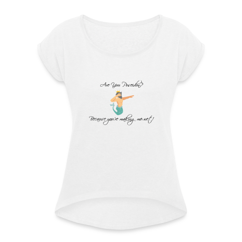 Poseidon - Women's T-shirt with rolled up sleeves