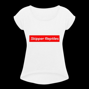 Skipper Reptiles Red Logo - Women's T-shirt with rolled up sleeves