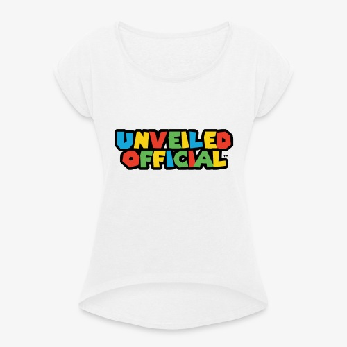 Unveiled Video Games Logo - Women's T-Shirt with rolled up sleeves