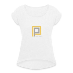 Plastik People Recordings - Women's T-shirt with rolled up sleeves