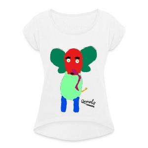 Annelie - Vrouwen T-shirt met opgerolde mouwen