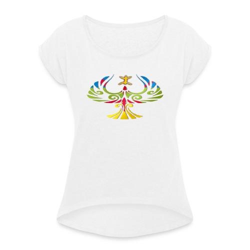 journc3a9e internationale2 Copier - T-shirt à manches retroussées Femme
