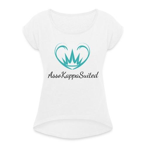 AssoKappaSuited - Maglietta da donna con risvolti