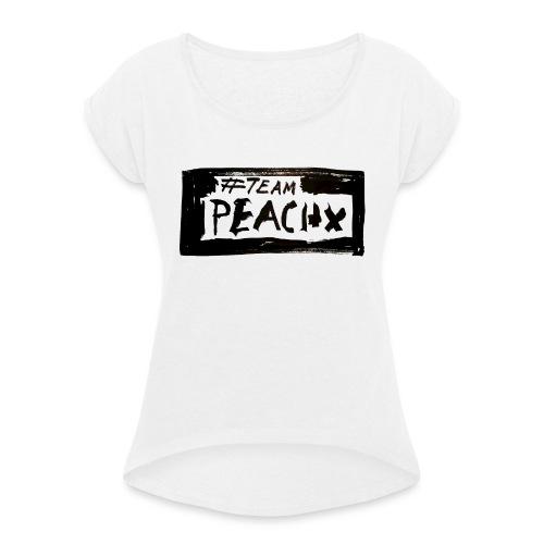 PeachX - Frauen T-Shirt mit gerollten Ärmeln