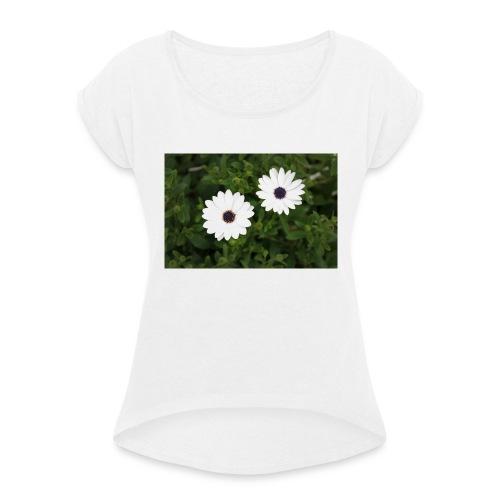 primaverapetalosa - Maglietta da donna con risvolti