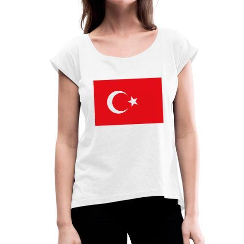 KY - Frauen T-Shirt mit gerollten Ärmeln