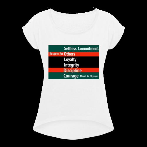S.O.L.I.D.C. - Women's T-Shirt with rolled up sleeves