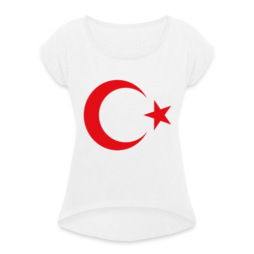 lphone 4/4S Turkey Case - Vrouwen T-shirt met opgerolde mouwen