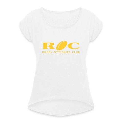 ROC Jaune sur bleu - T-shirt à manches retroussées Femme