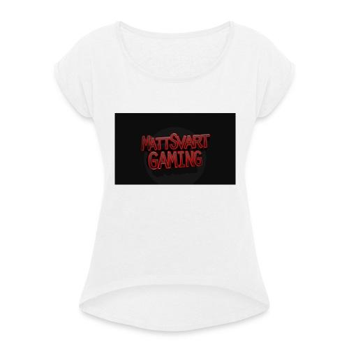 MSG - T-shirt med upprullade ärmar dam