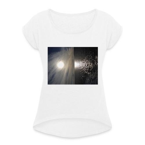i phone 6/6s cover elastik med solnedgang - Dame T-shirt med rulleærmer