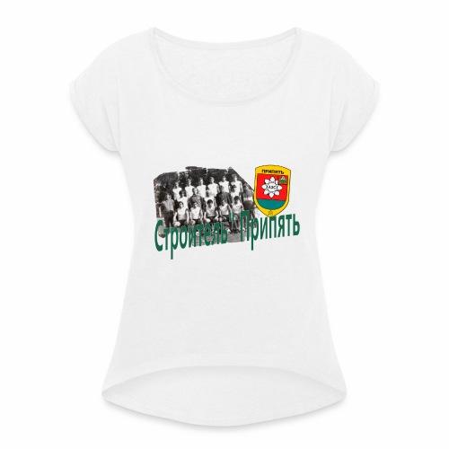 STROITEL 3 - Vrouwen T-shirt met opgerolde mouwen
