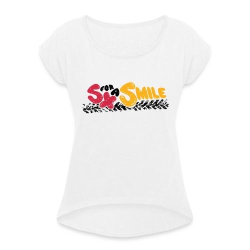 SX FOR A SMILE - Frauen T-Shirt mit gerollten Ärmeln