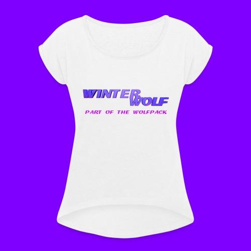 WINTERWOLF LOGO Part of The Wolfpack T-shirt - Vrouwen T-shirt met opgerolde mouwen