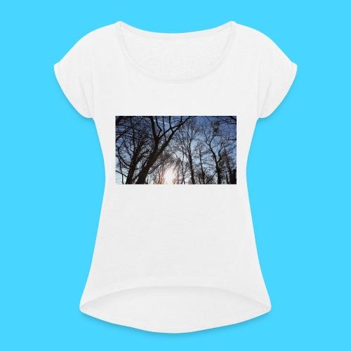 sonnenwald - Frauen T-Shirt mit gerollten Ärmeln