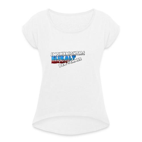 SnowKnightMC_Merch_Logo - Frauen T-Shirt mit gerollten Ärmeln
