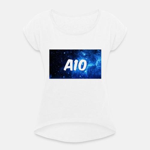 animatronic 10 - T-shirt med upprullade ärmar dam