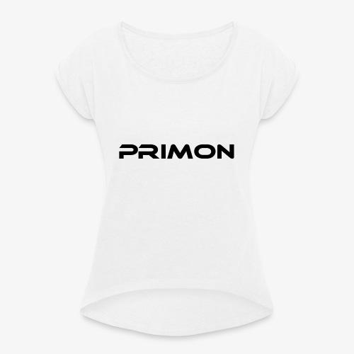 PRIMON - Frauen T-Shirt mit gerollten Ärmeln