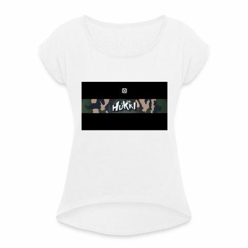 HuKKi - Frauen T-Shirt mit gerollten Ärmeln