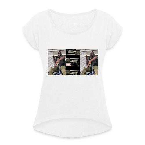 frenna merchandise - Vrouwen T-shirt met opgerolde mouwen