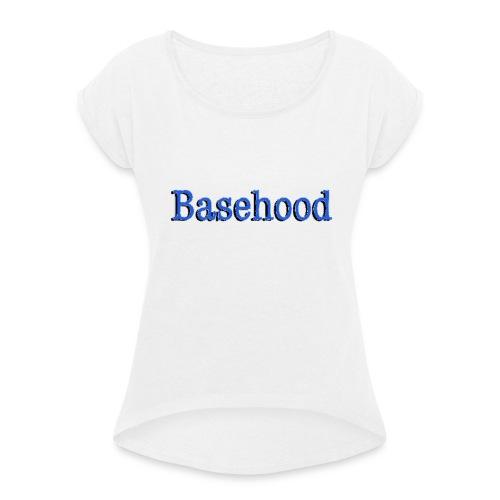 Basehood Basic Logo - Vrouwen T-shirt met opgerolde mouwen