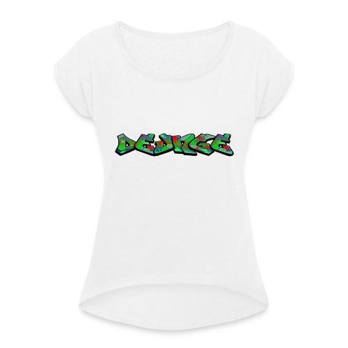 DE_UNGE_LOGO-png - Dame T-shirt med rulleærmer