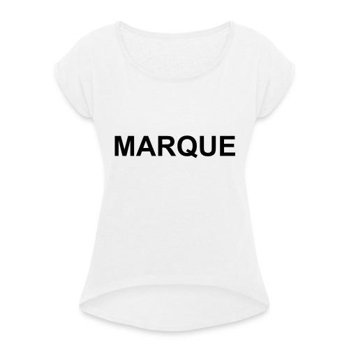 MARQUE - T-shirt à manches retroussées Femme