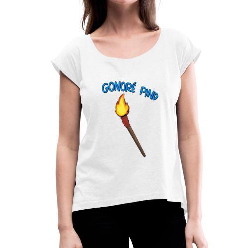 Gonoré Pind - Dame T-shirt med rulleærmer