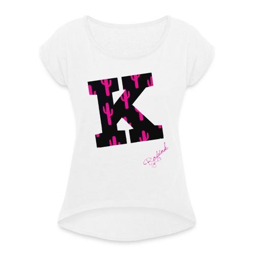 K Cactus - Maglietta da donna con risvolti