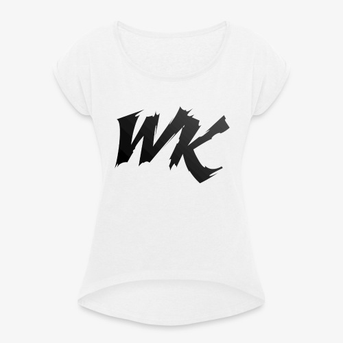 WK black - Women's T-Shirt with rolled up sleeves