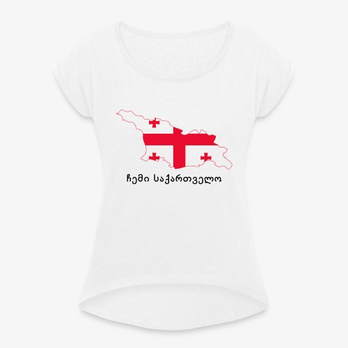 Mi georgia - ჩემი საქართველო - Camiseta con manga enrollada mujer