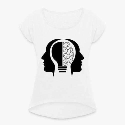 Aitzz.net - Frauen T-Shirt mit gerollten Ärmeln