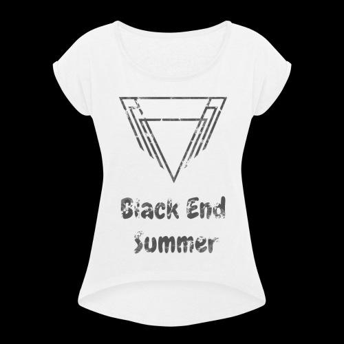 Hauts Blancs - T-shirt à manches retroussées Femme