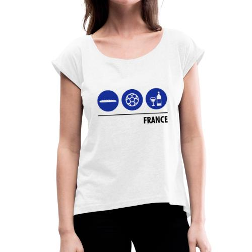 Circles - France - Women's T-Shirt with rolled up sleeves